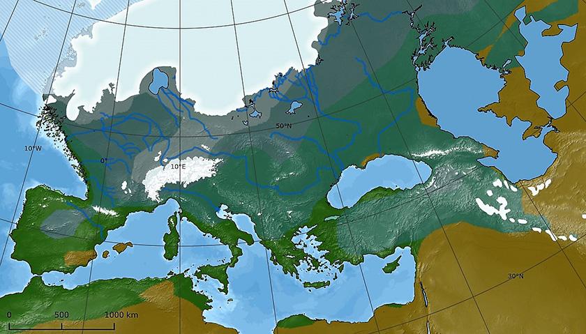 Europa bajo la gran glaciación