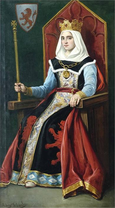 Urraca I (pintura del Ayuntamiento de León)
