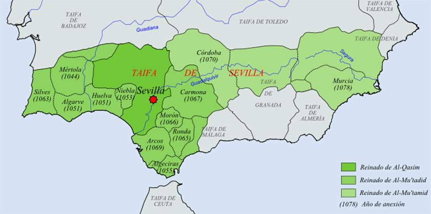 Taifa de Sevilla, una de las más importantes del siglo XI