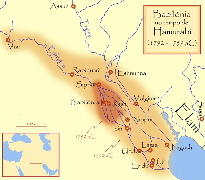 El Imperio Babilonio en tiempos de Hammurabi