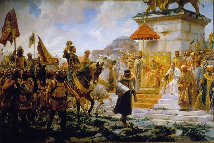 Roger de Flor, comandante de los almogávares entrado en Constantinopla.