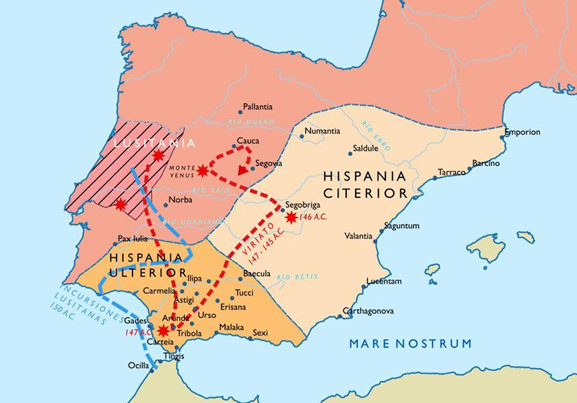 Las campañas de Viriato contra Roma