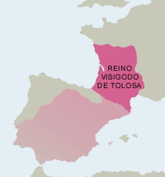 El reino visigodo de Tolosa, durante el siglo V