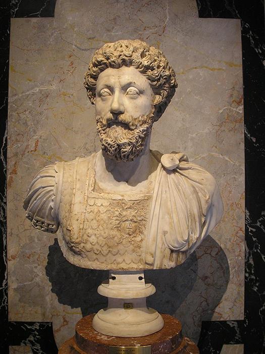 Busto de Marco Aurelio en el Museo de Historia del Arte en Viena