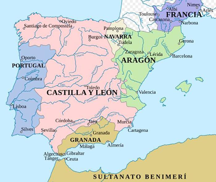 La península Ibérica durante la Guerra de los Dos Pedros.