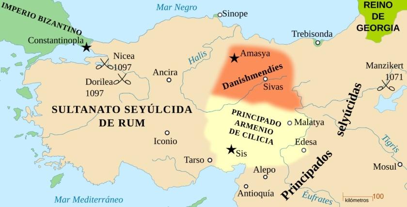 Sultanato de Rum a la llegada de los ejércitos cruzados