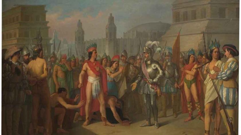 Hernán Cortes y Moctezuma