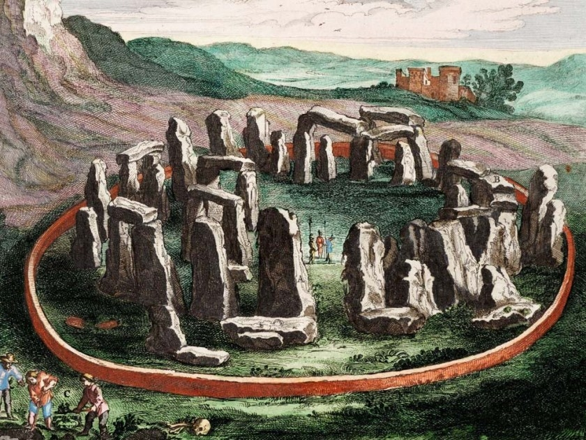 El Stonehenge en un grabado de 1645