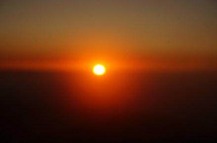 Puesta de sol desde el Naranco