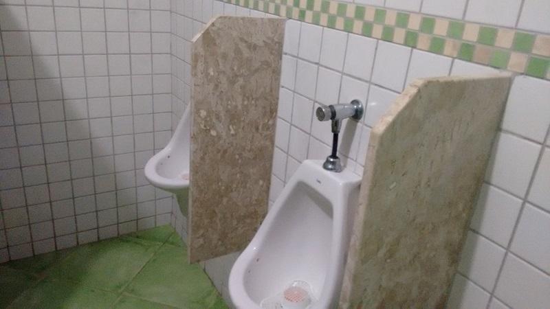 trindade e seus encantos foto de banheiro masculino - Trindade. Belezas naturais praias e cachoeiras em harmonia.