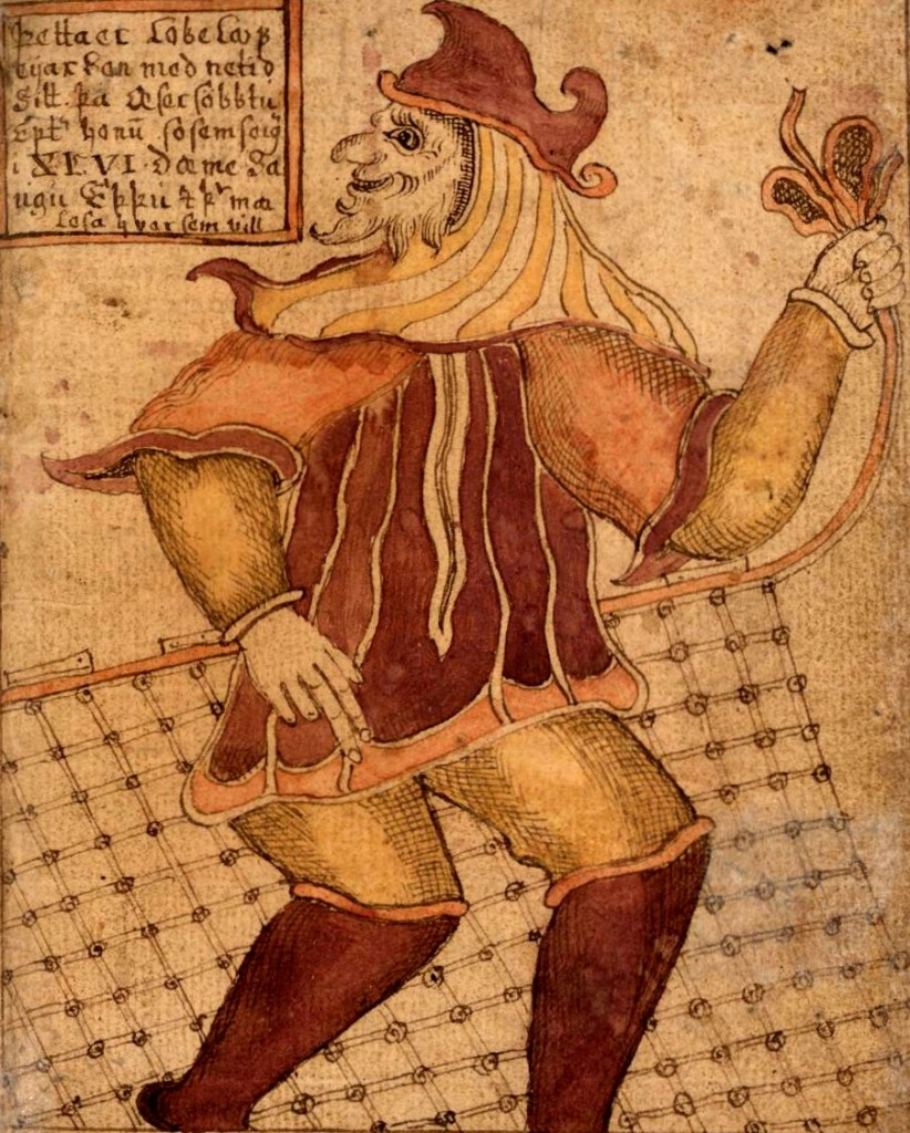 Loki - Pintura anônima de Loki em manuscrito islandês