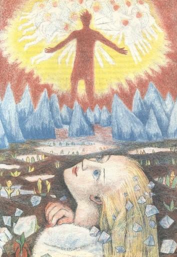 """Freyr sees Gerd"" by Edgar D'Aulaire (1968)"
