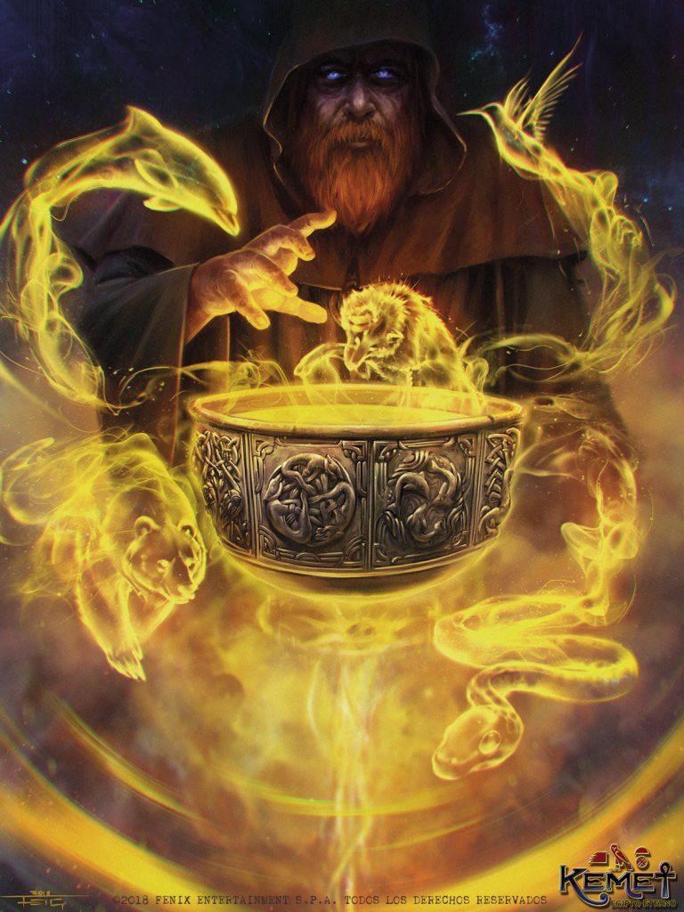 Deus Dagda e seu caldeirão. Fonte: https://www.deviantart.com/feig-art/art/Dagda-s-Cauldron-765656555