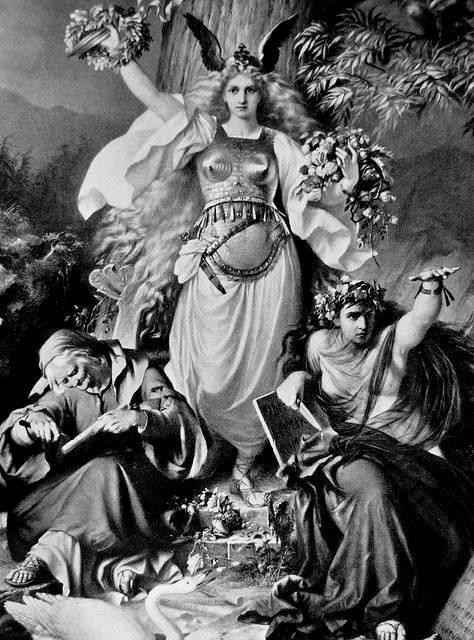 Nornas. Crédito: C. Ehrenberg/Myths of the Norsemen por H. A. Guerber