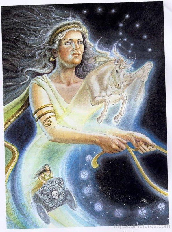 Deusa Selene. Fonte: https://www.mygodpictures.com/image-of-goddess-selene/