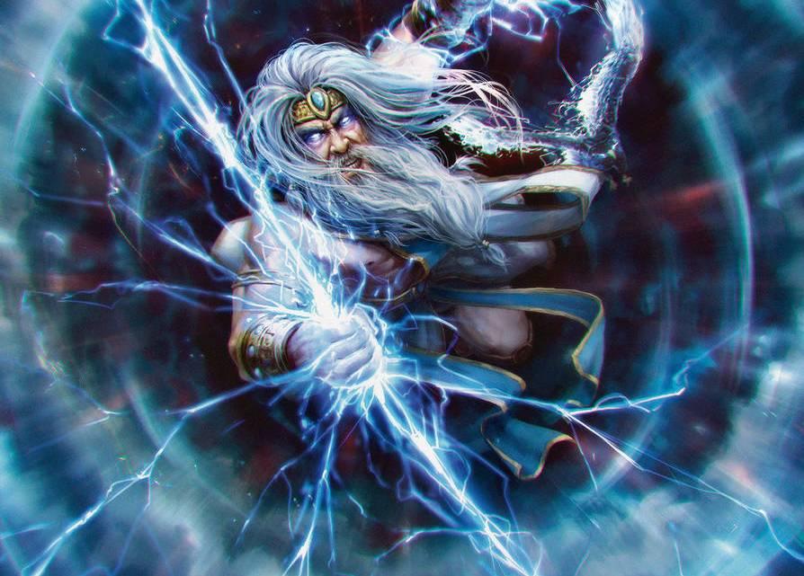 Zeus, o Rei dos Deuses no Monte Olimpo