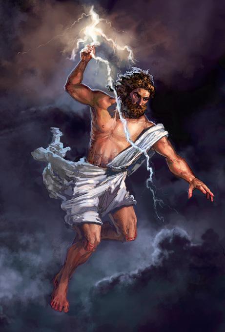 Deus Zeus. Fonte: https://www.deviantart.com/thegryph/art/Zeus-95576890