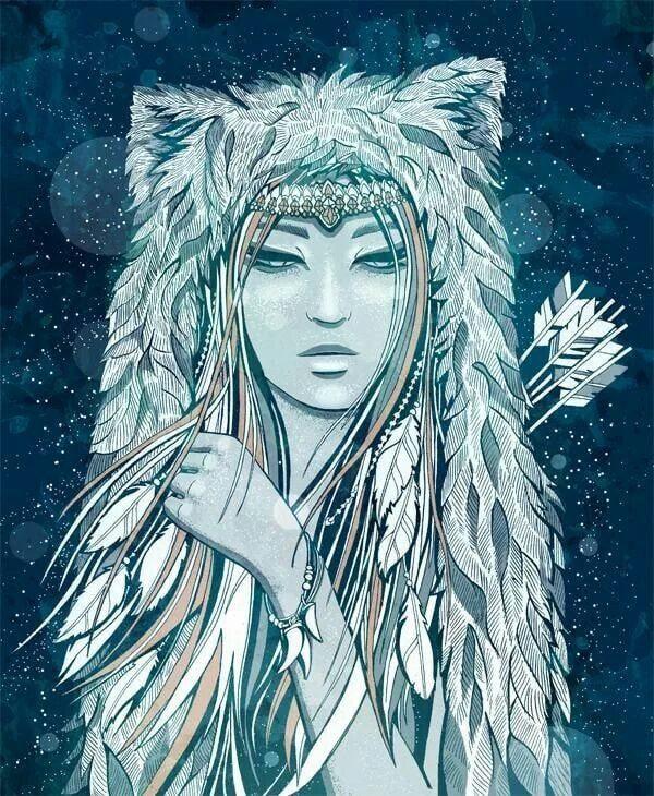 Deusa e Jotun Skadi. Fonte: https://www.deviantart.com/ansfhd/art/Goddesses-of-the-North-Skadi-347722019