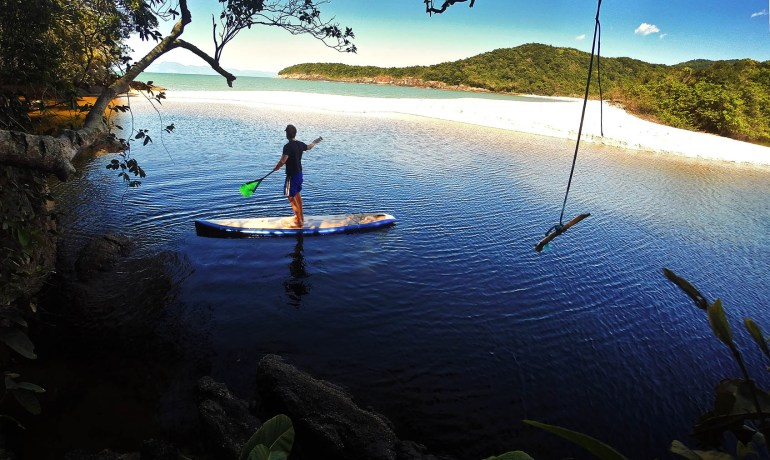 Travessia de Stand up paddle no litoral norte