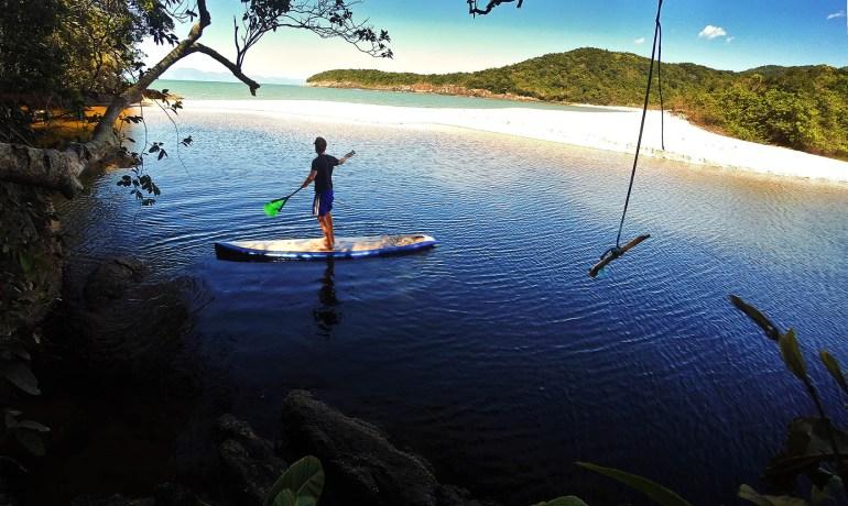 Travessia de Stand up paddle no litoral norte