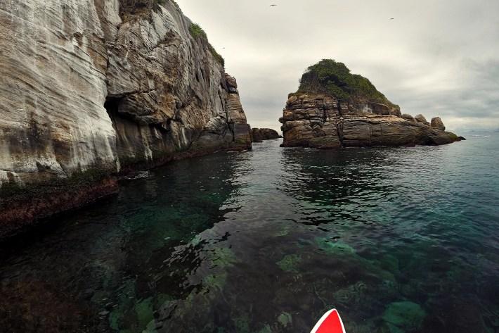 Chegando na Ilha Alfavaca, a mais famoso do arquipélago das Tijucas