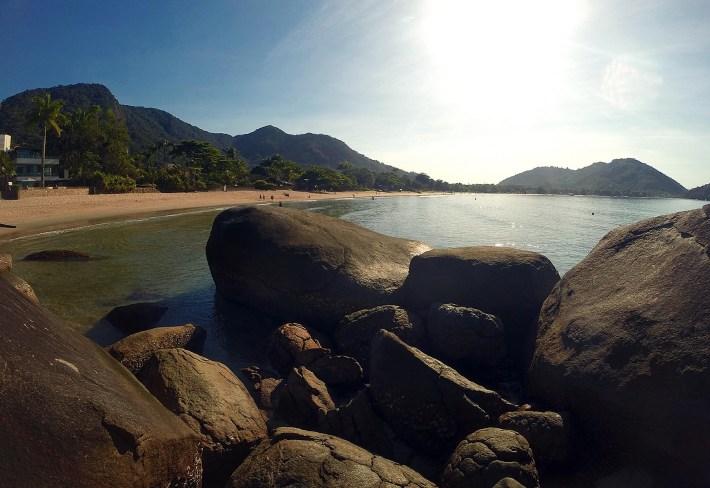 Praia do Lázaro, parada na travessia até a Praia das Sente Fontes