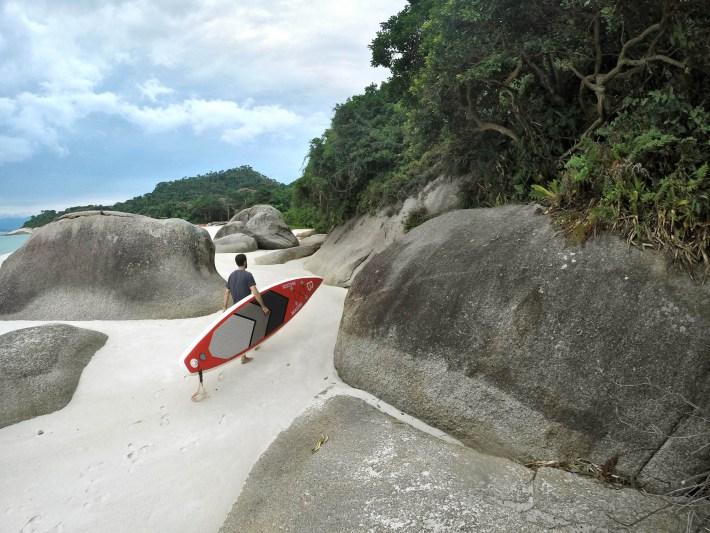 Praia da Ilha do Campeche, no sul de Floripa