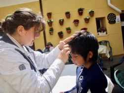 515カミーノ マンリーアルベルゲ おばちゃん 頭痛直し2サンティアゴ巡礼