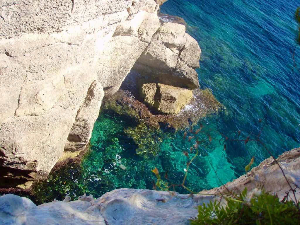 地中海 スペイン メノルカ島 海