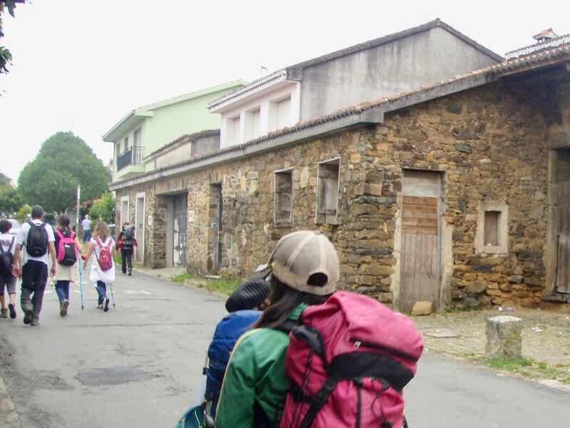 605スペイン巡礼 石造り右12 サンティアゴ Santiago