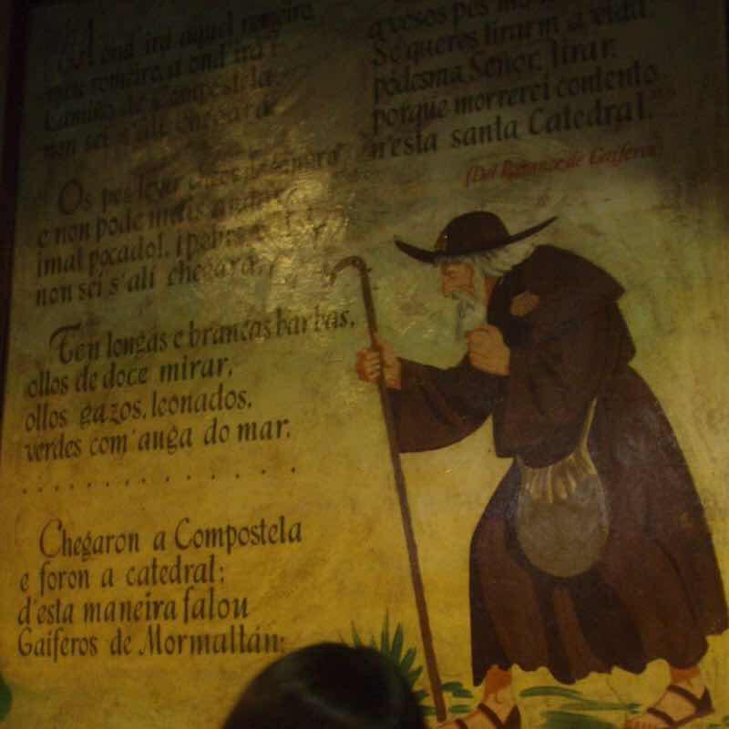 606サンティアゴ Santiago Camino 巡礼事務所 中の絵