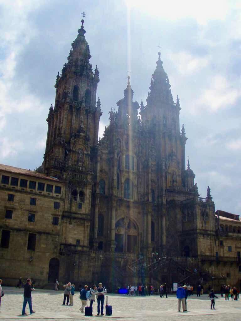 サンティアゴ大聖堂 caminoスペイン巡礼正面景色
