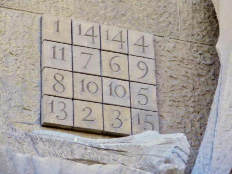 616 サグラダファミリア石版魔法陣33Sagrada Familia