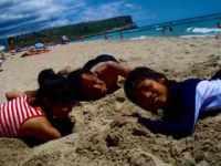 618メノルカ島 海水浴 Menorca p12砂