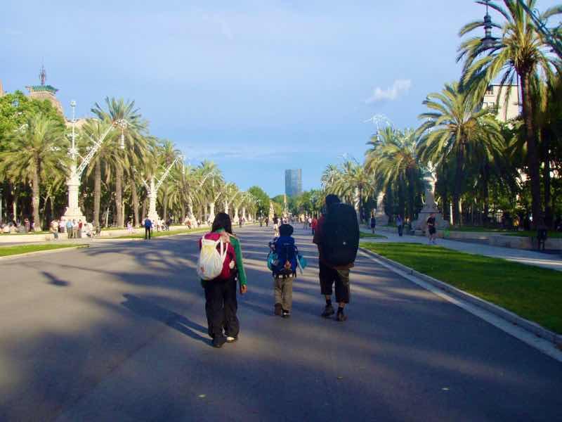 617バルセロナ 公園バックパック12p