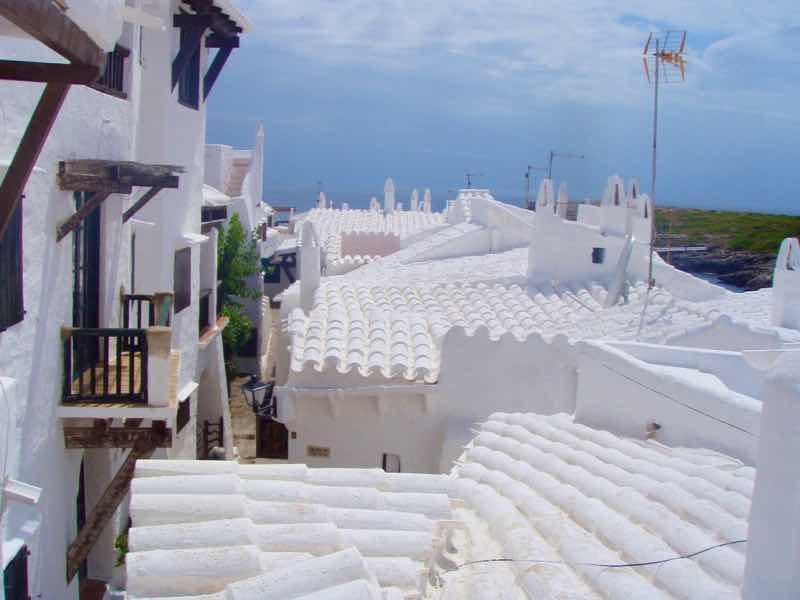618メノルカ島Menorca 白い街屋根