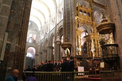 Inside the Cathedral and Botafumeiro
