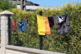 Our clothes drying in the sun