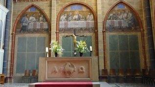 Der Innenraum mit fünf Orgeln wurde zuletzt in den 1970er-Jahren umfassend renoviert.