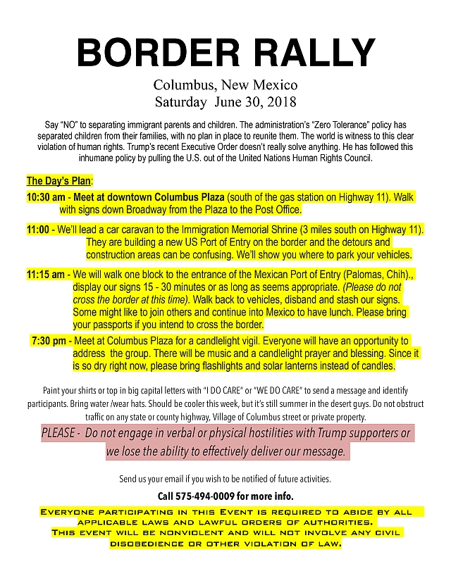 Planean manifestarse en Columbus