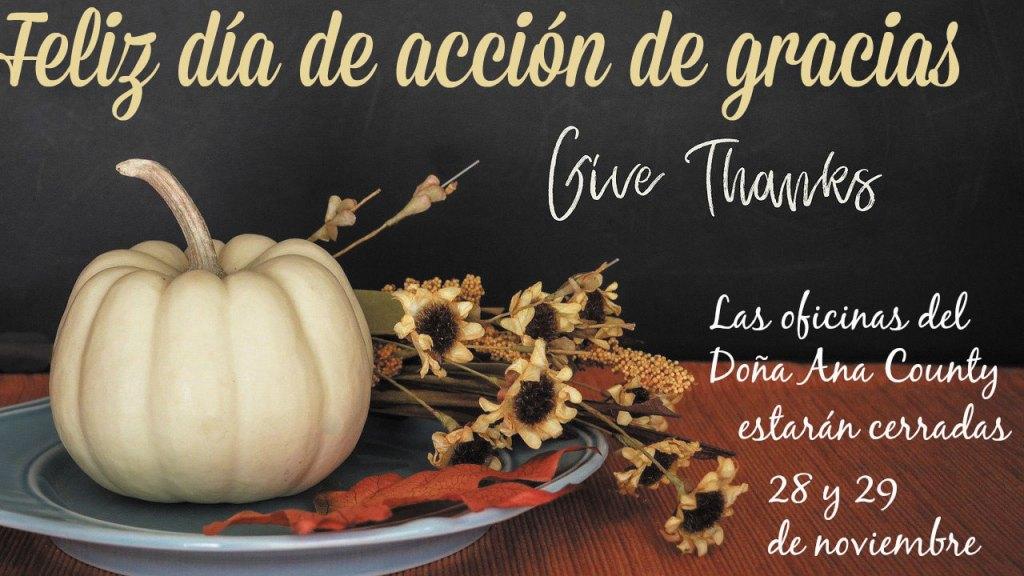 El condado observa Día Acción de Gracias