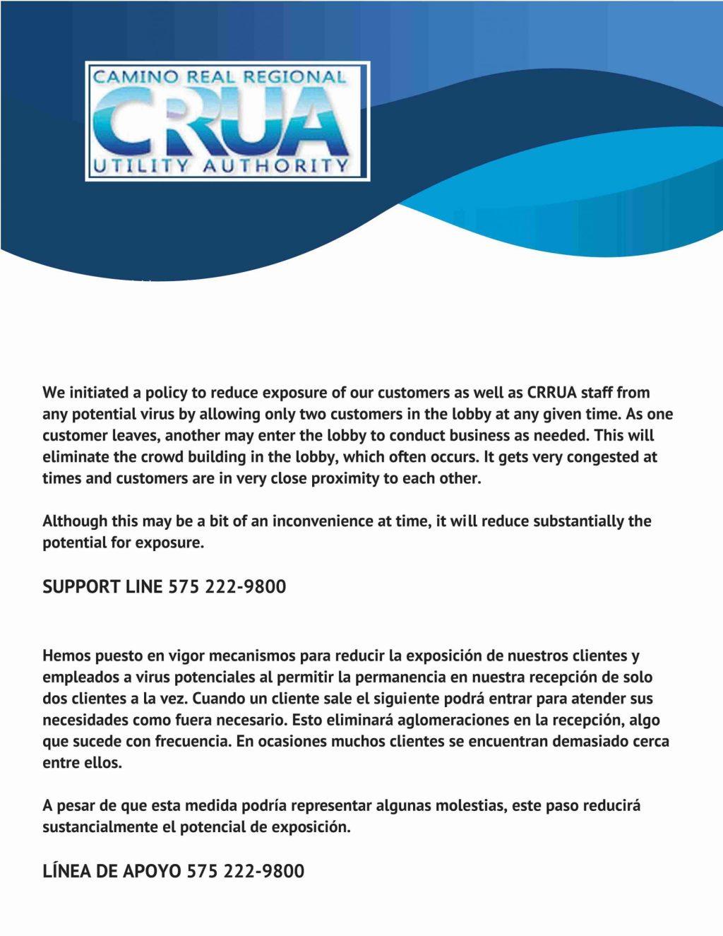 CRRUA and the coronavirus