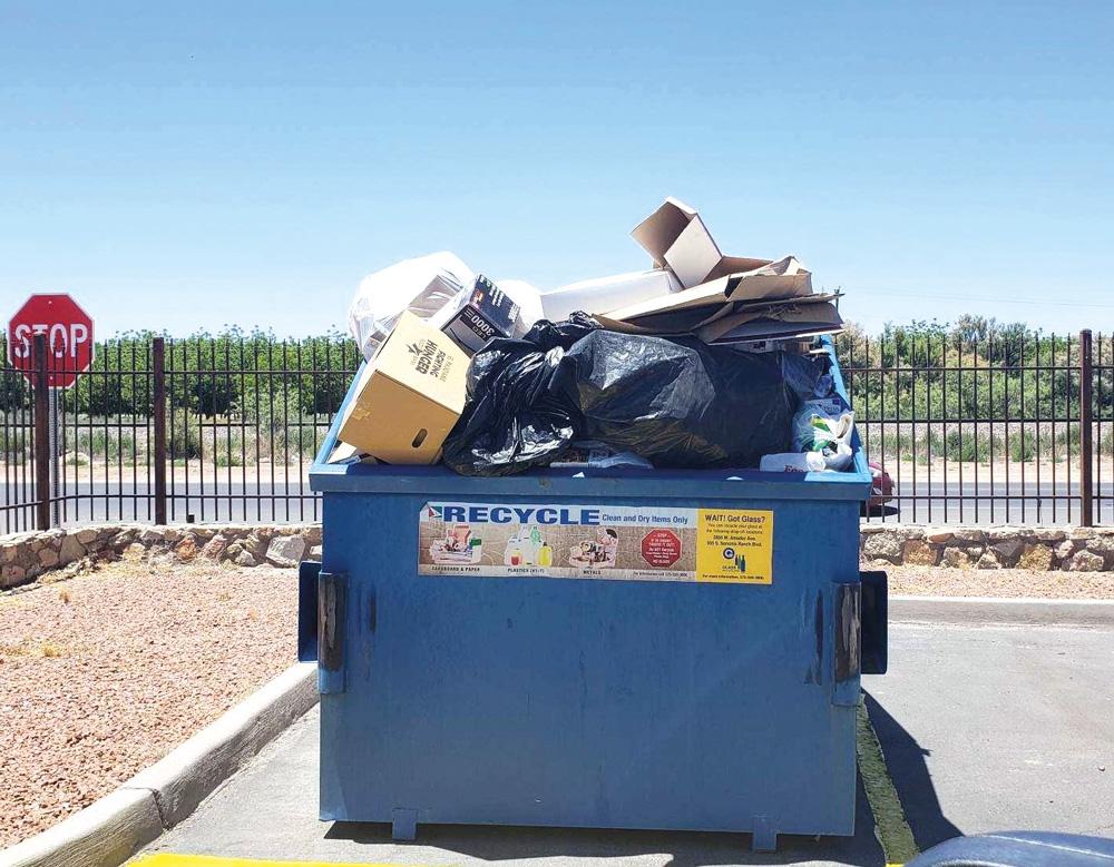 Limpieza en nuestro reciclaje