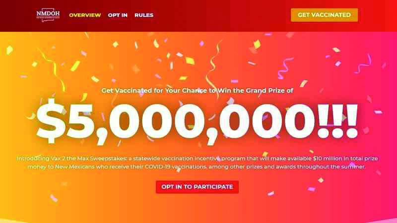 Lotería de vacunación vax2themaxnm.org