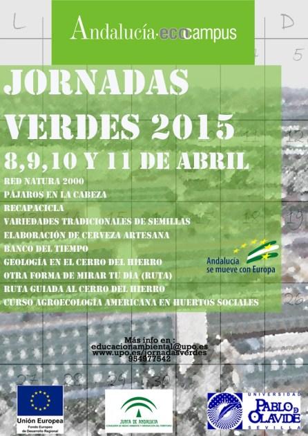 Cartel de la Semana Verde de la UPO 2015