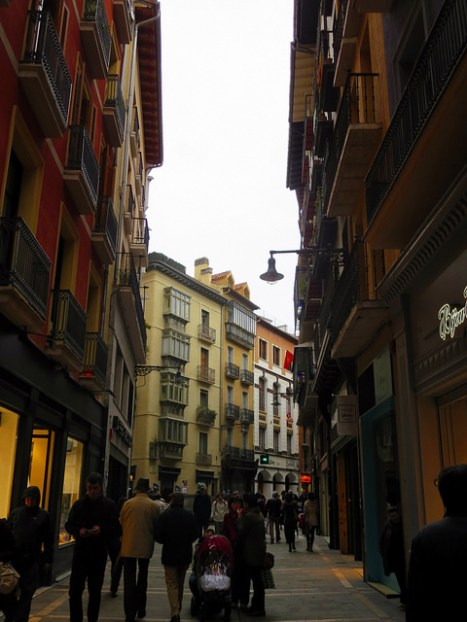 Pamplona city streets