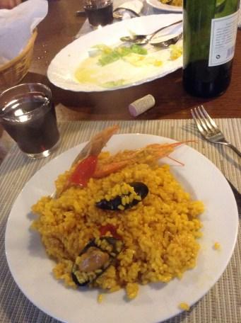 Paella at Albergue Lugo