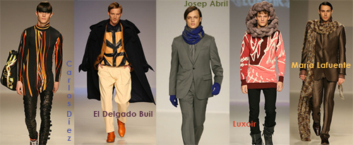 Algunos modelos para hombre del viernes en Cibeles