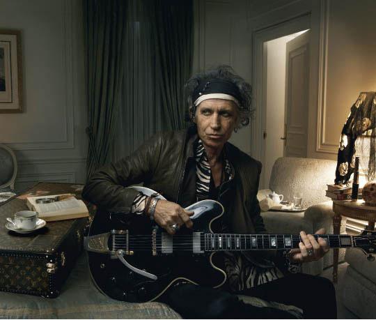 Keith Richards en la imagen de la campaña