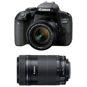 Canon EOS 800D 24.2 MP with 18-55mm And 55-250mm IS STM